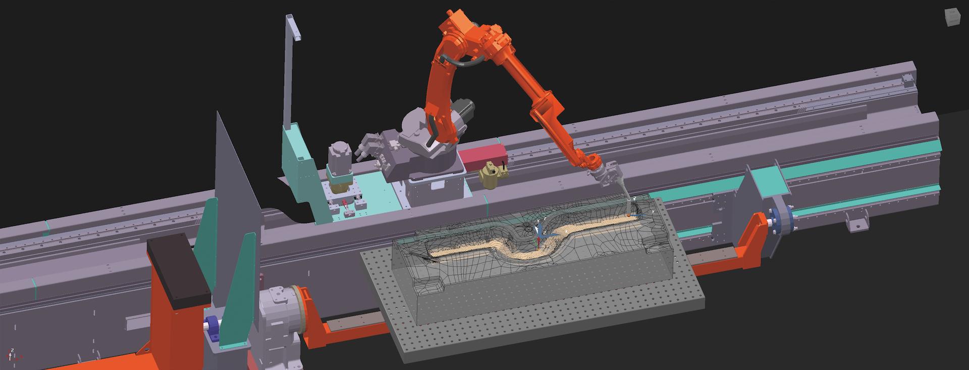 Repair WAAM DED welding path planning robot machine