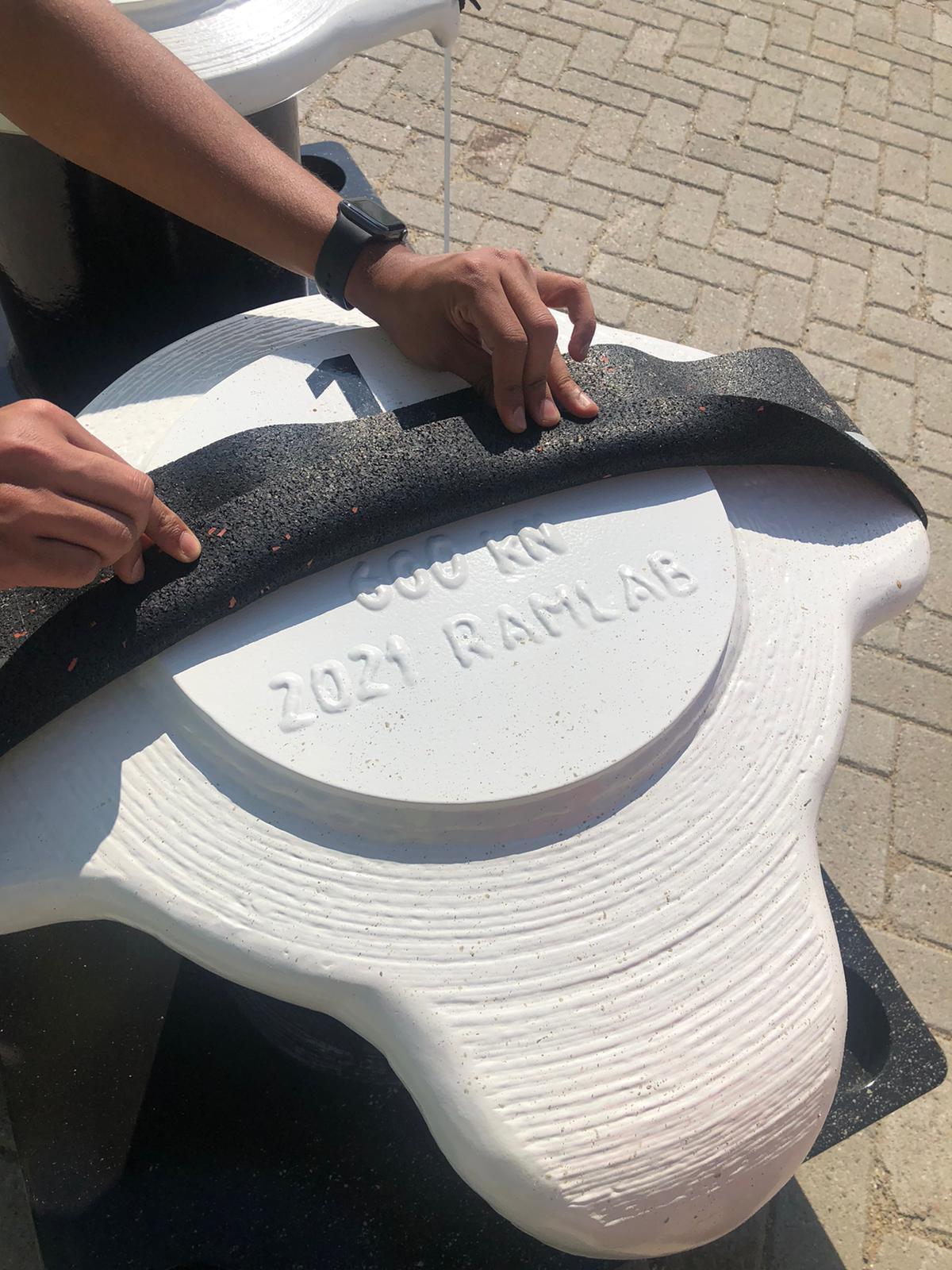 Bollard 3D print Wire Arc Additive Manufacturing RAMLAB